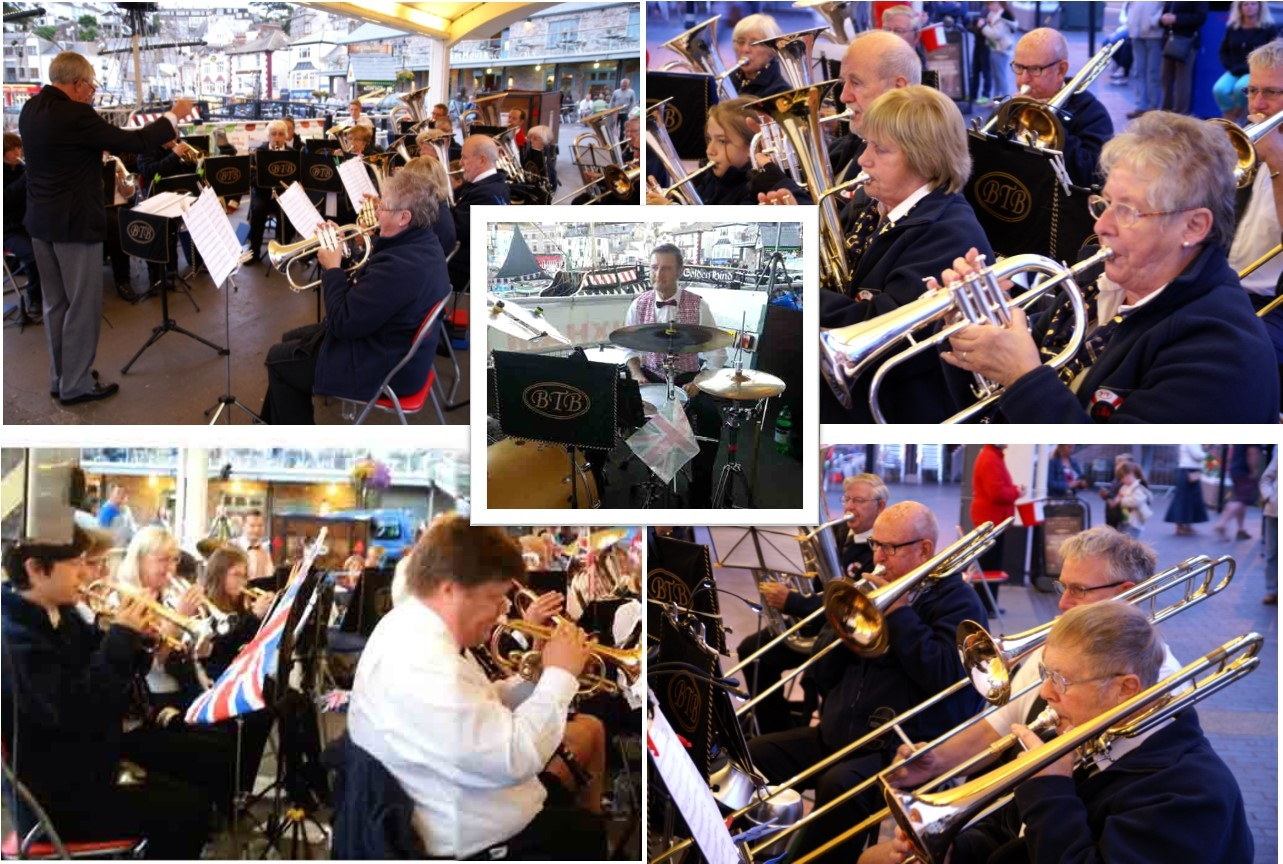 Where can you hear the Brixham Town Band this Spring and Summer?